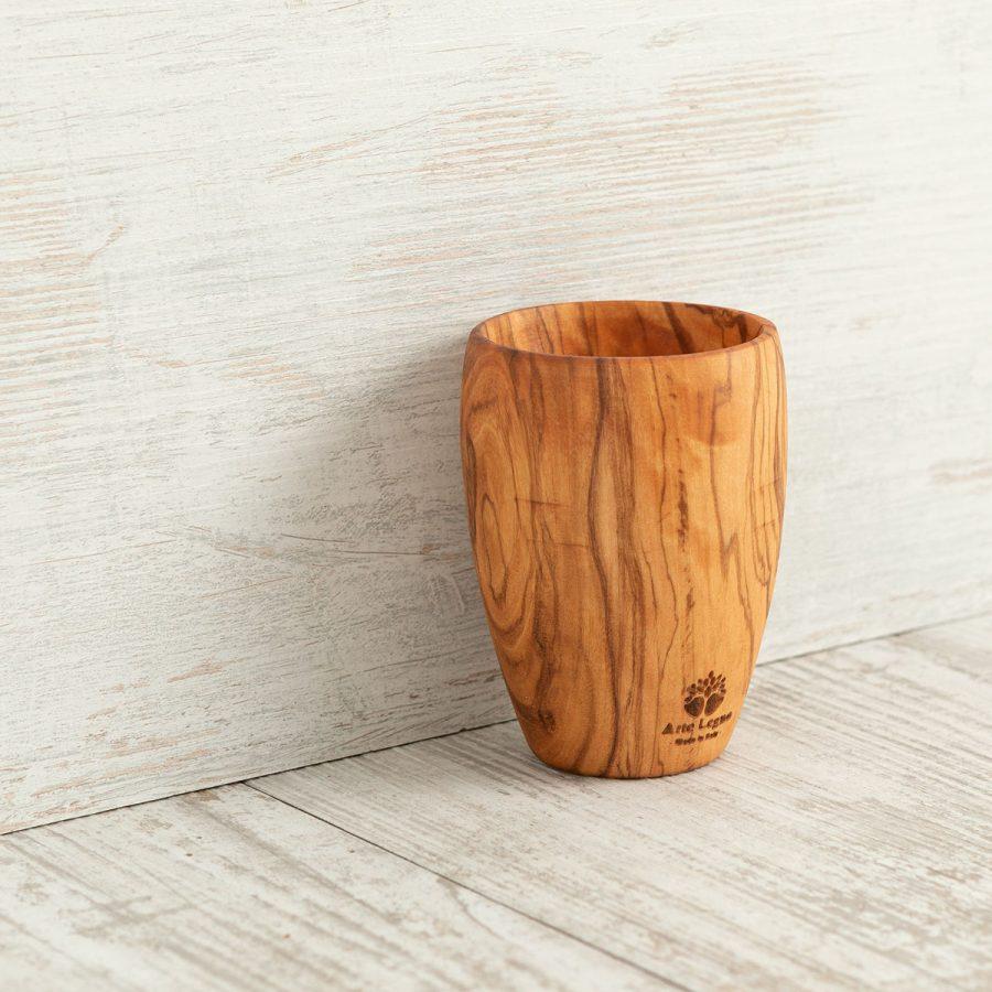 Bicchiere Vino in legno di ulivo - Arte Legno