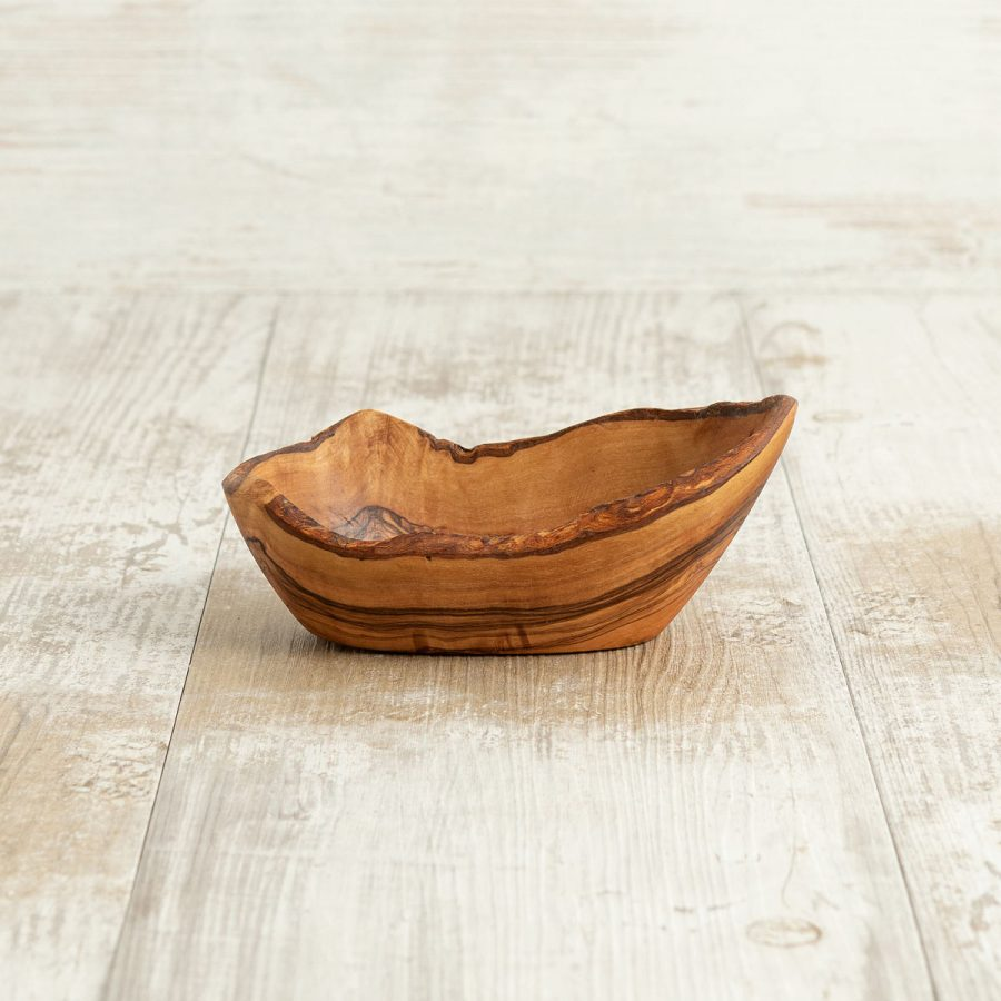 Ciotolina Rustica 15x9x6 in legno di ulivo - Arte Legno
