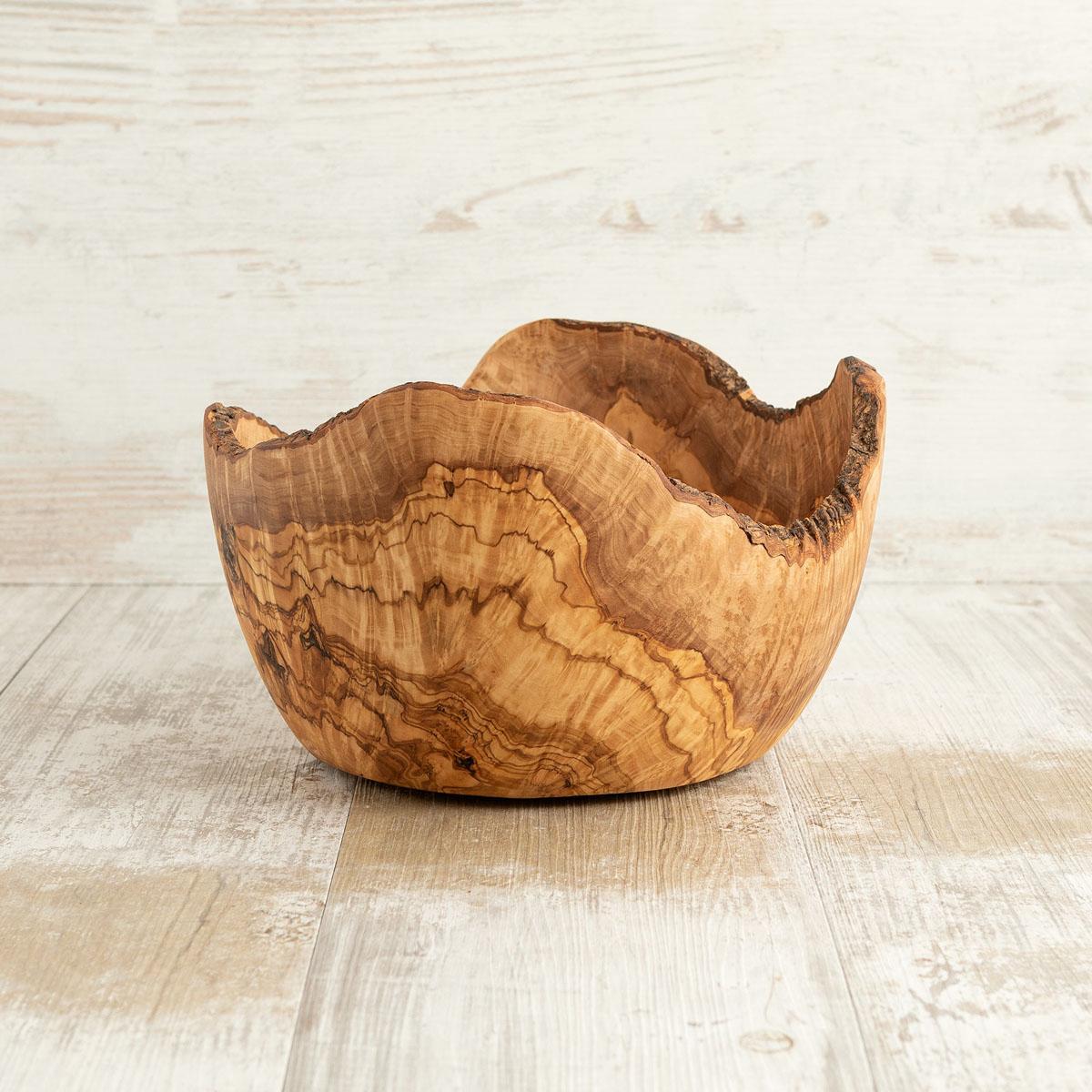 Ciotola Rustica in legno di ulivo - Arte Legno