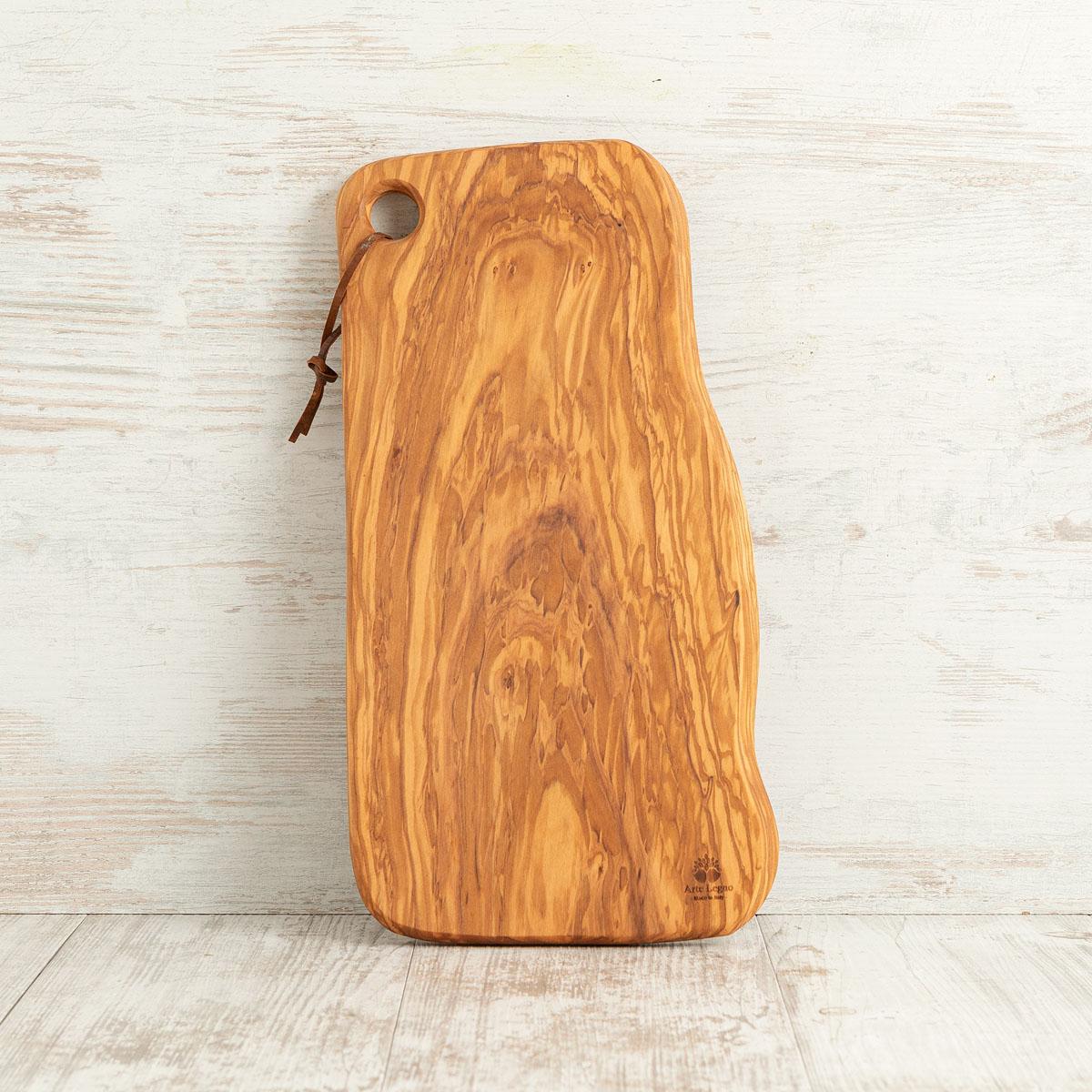 Tagliere cm 42x22x2 in legno di ulivo - Arte Legno