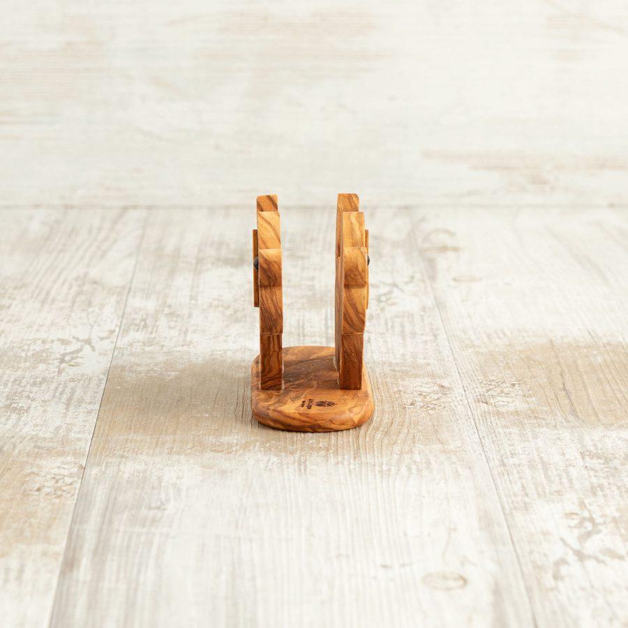 Porta tovaglioli Cane in legno di ulivo - Arte Legno