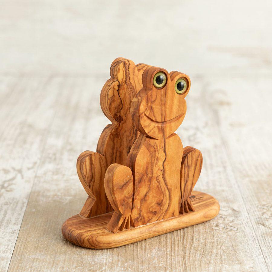 Porta tovaglioli Rana in legno di ulivo - Arte Legno