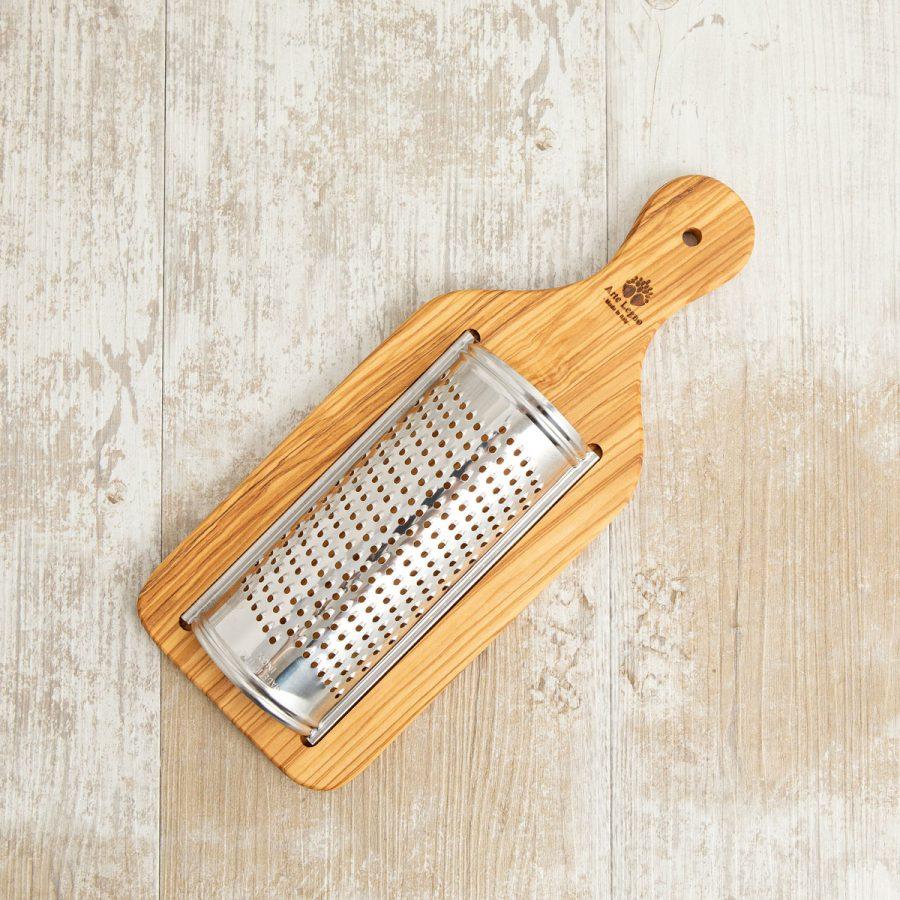 Grattugia tagliere cm 30x12x3,5 in legno di ulivo - Arte Legno