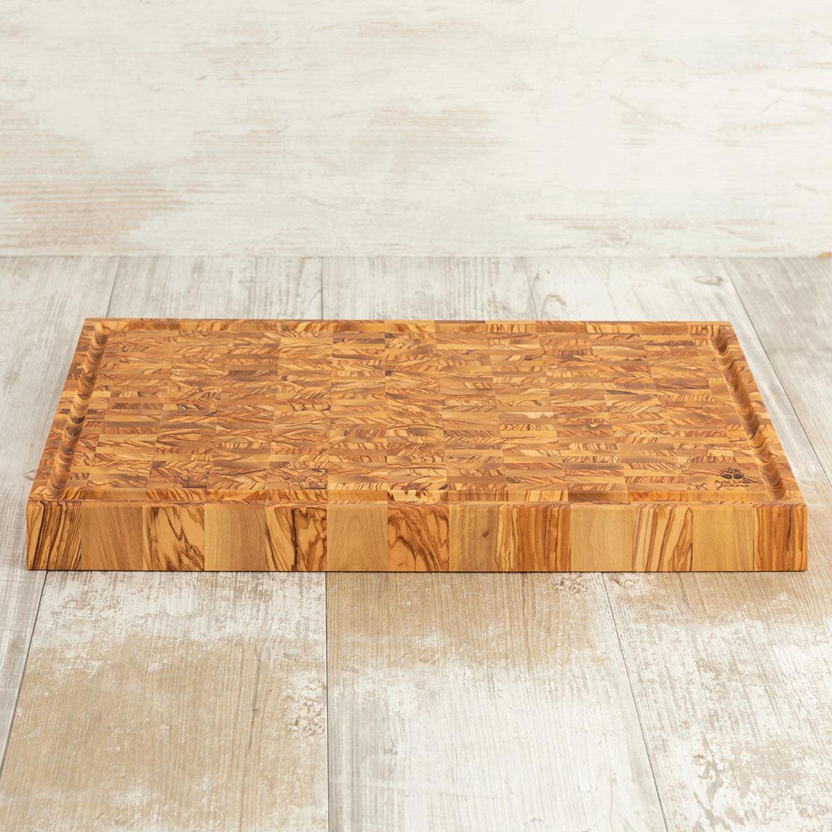 Tagliere listellare - cm 50×30×4,2 in legno di ulivo - Arte Legno