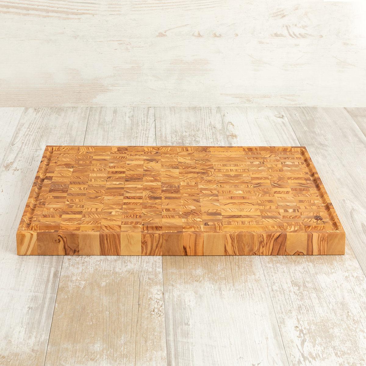 Tagliere listellare cm 62×30×4,2 in legno di ulivo - Arte Legno