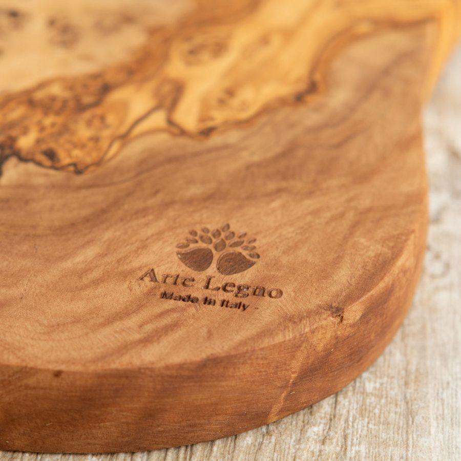 Tagliere con manico in legno di ulivo | Arte Legno