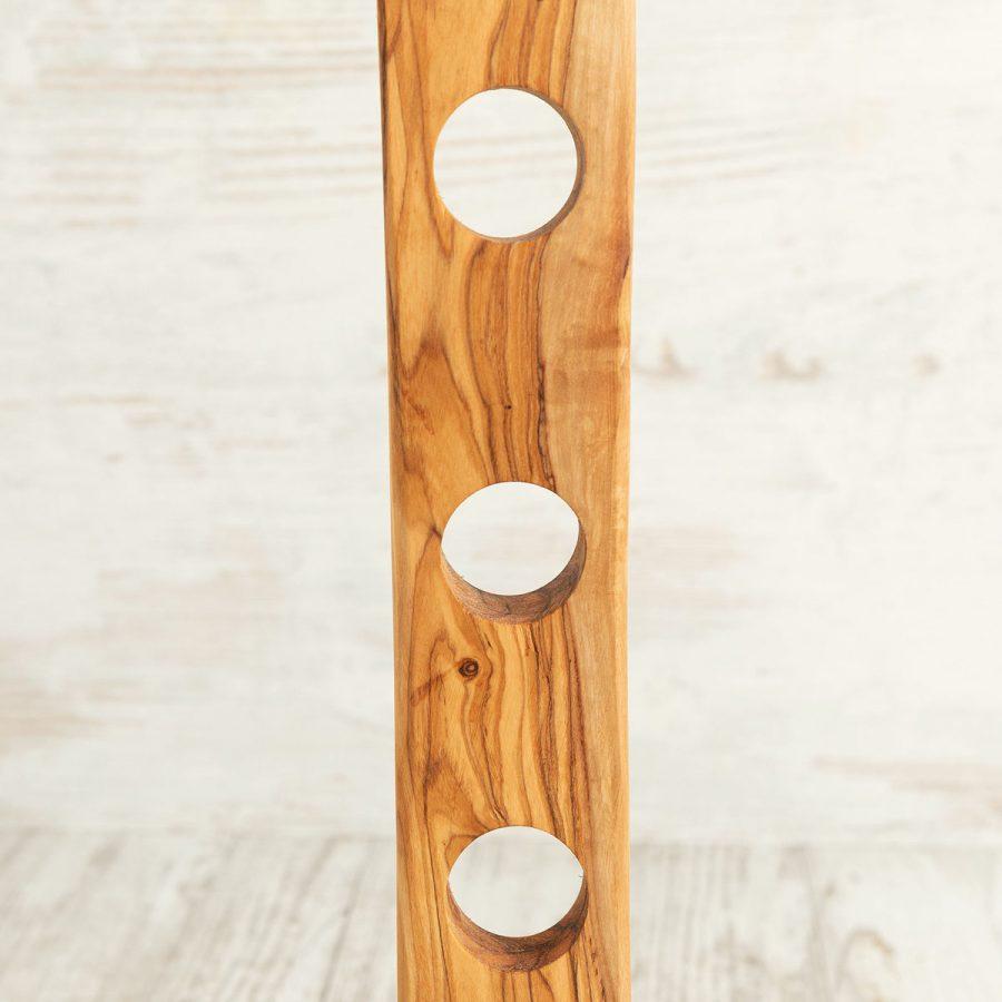 Porta bottiglia a 4 in legno di ulivo | Arte Legno