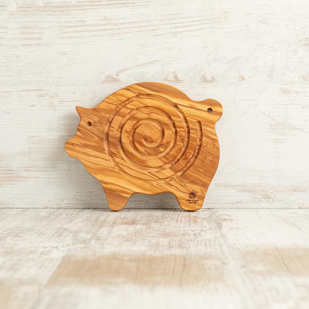 Sottopentola tagliere in legno di ulivo | Arte Legno