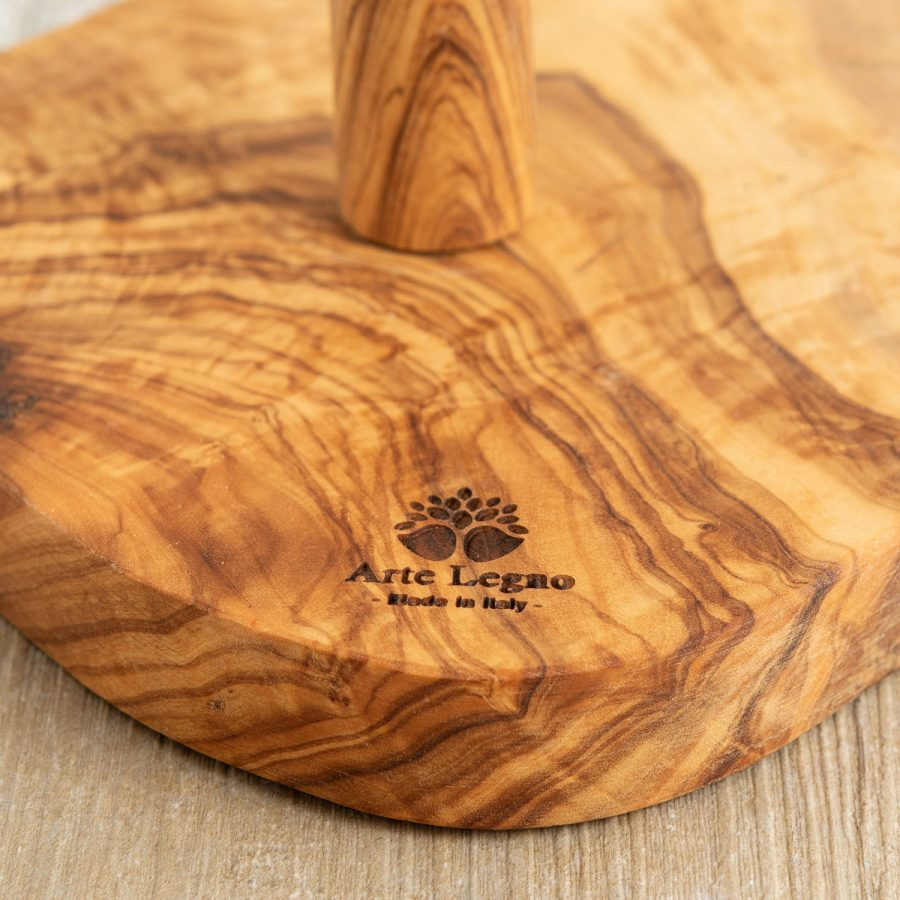 Porta scottex rustico in legno di ulivo   Arte Legno