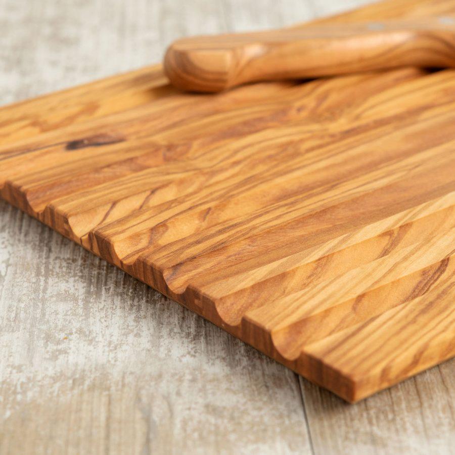 Set Tagliapane con coltello in legno di ulivo | Arte Legno