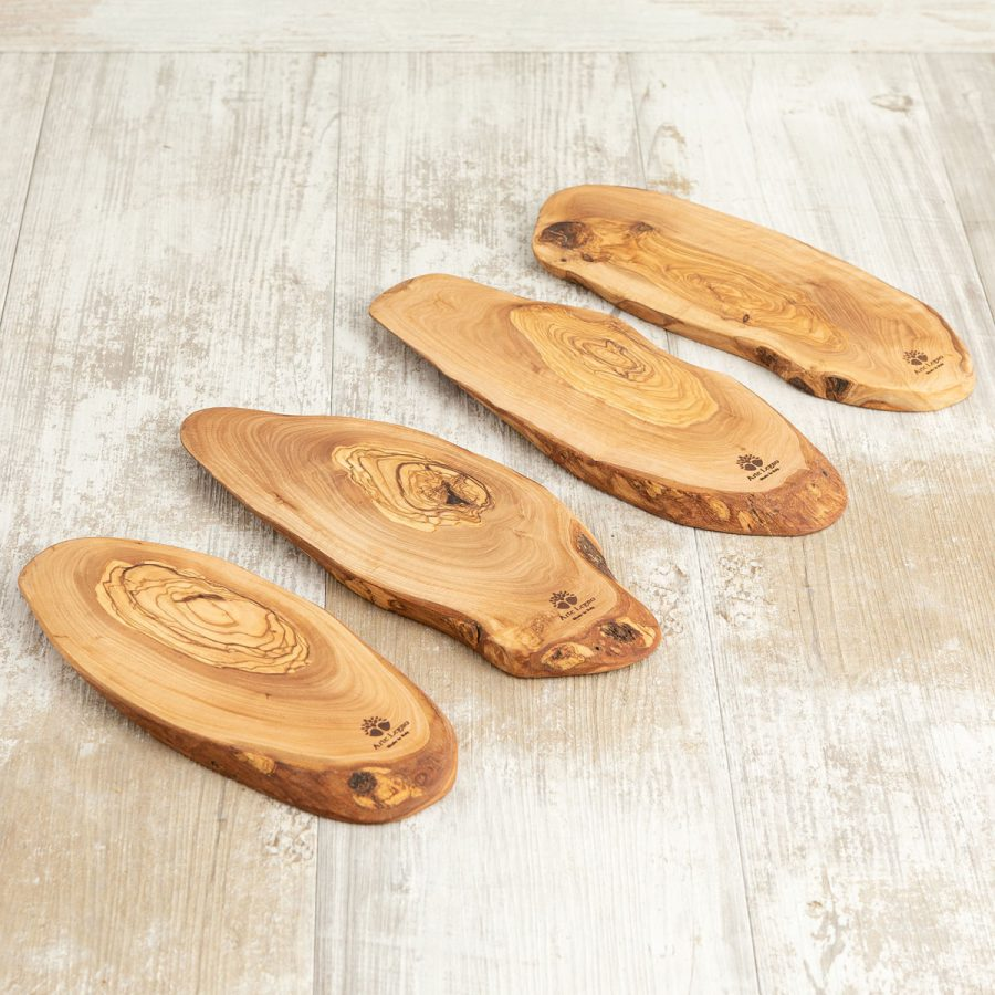 Set 4 taglieri piccoli rustici in legno di ulivo | Arte Legno
