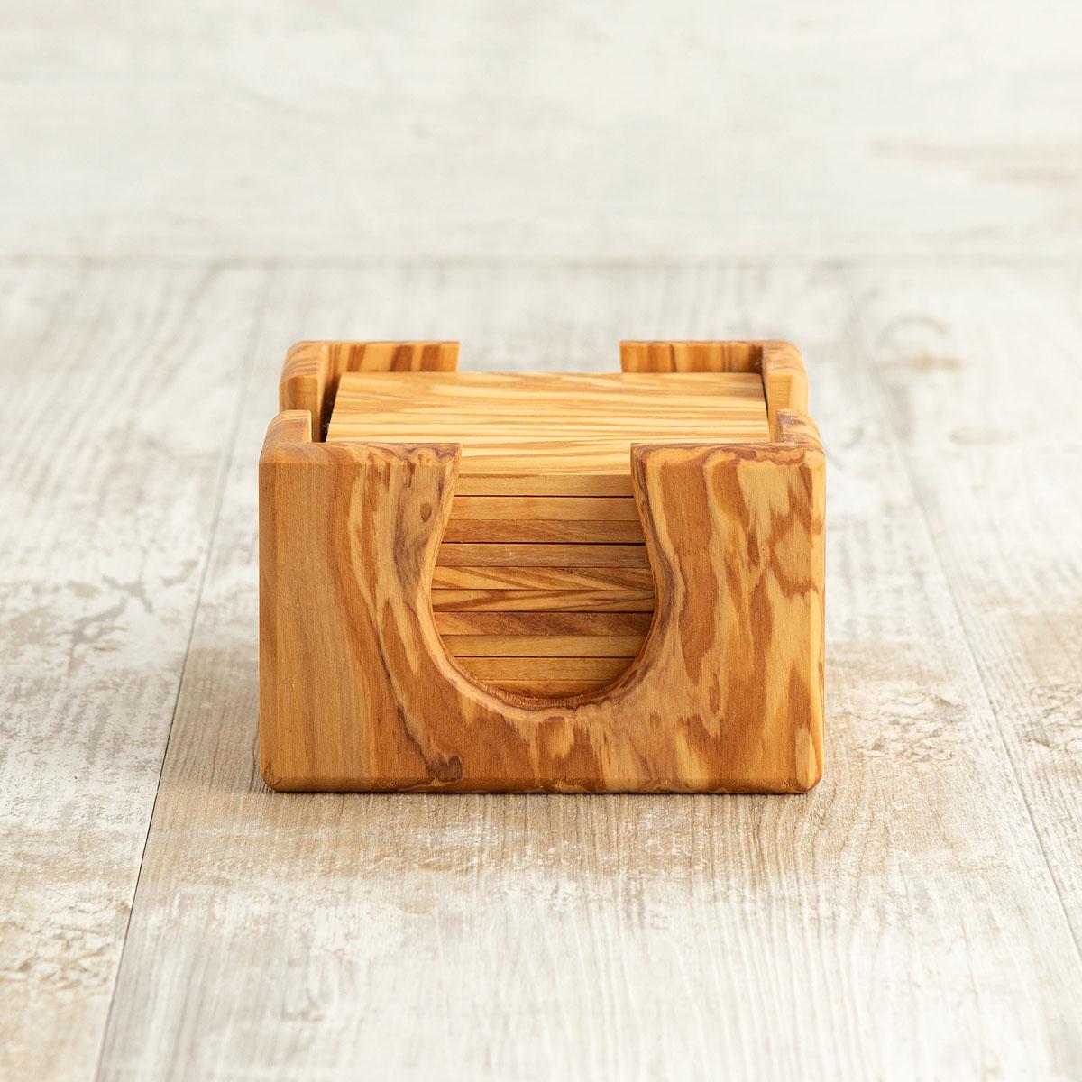 Set 12 sottobichieri in legno di ulivo | Arte Legno