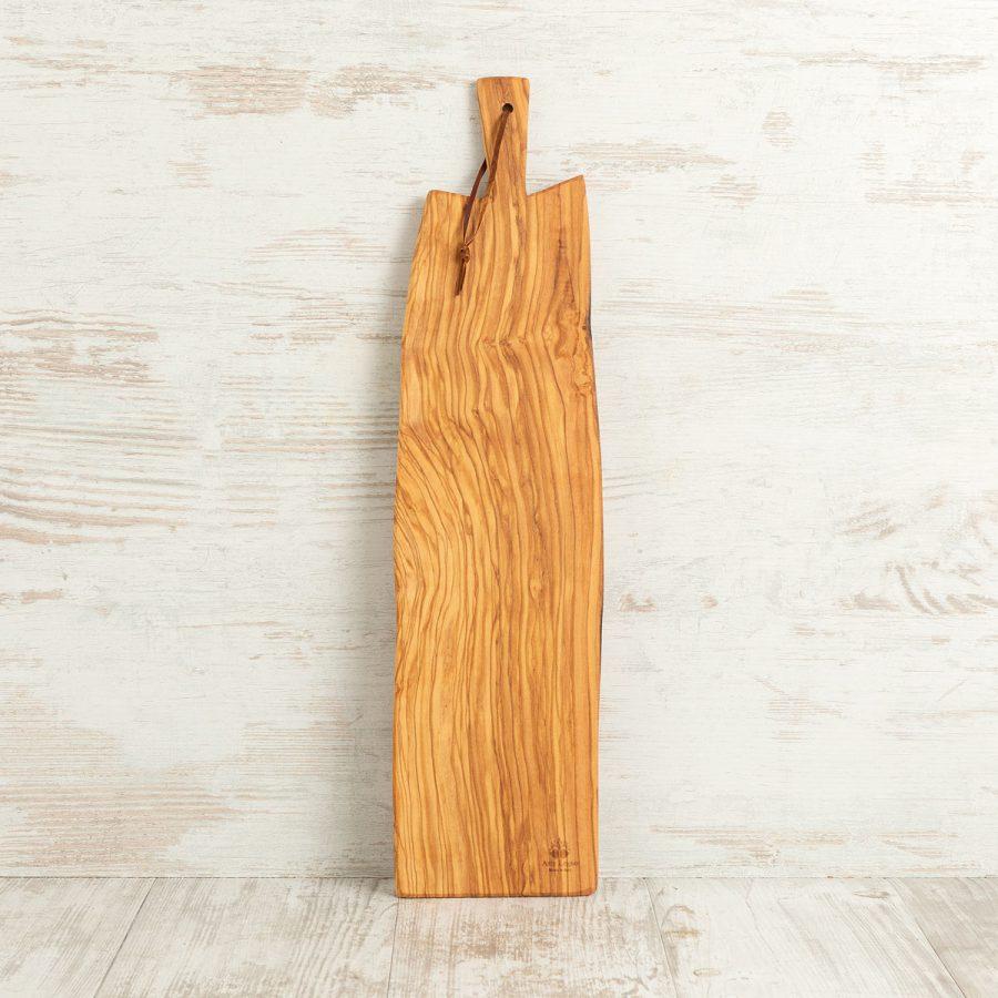 Tagliere sottile con manico toscano in legno di ulivo | Arte Legno