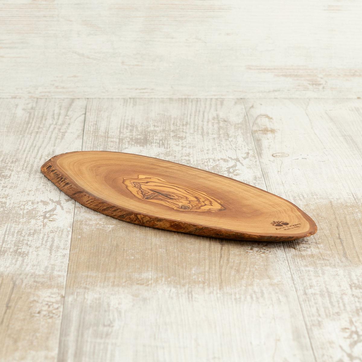 Tagliere fetta rustica in legno di ulivo | Arte Legno