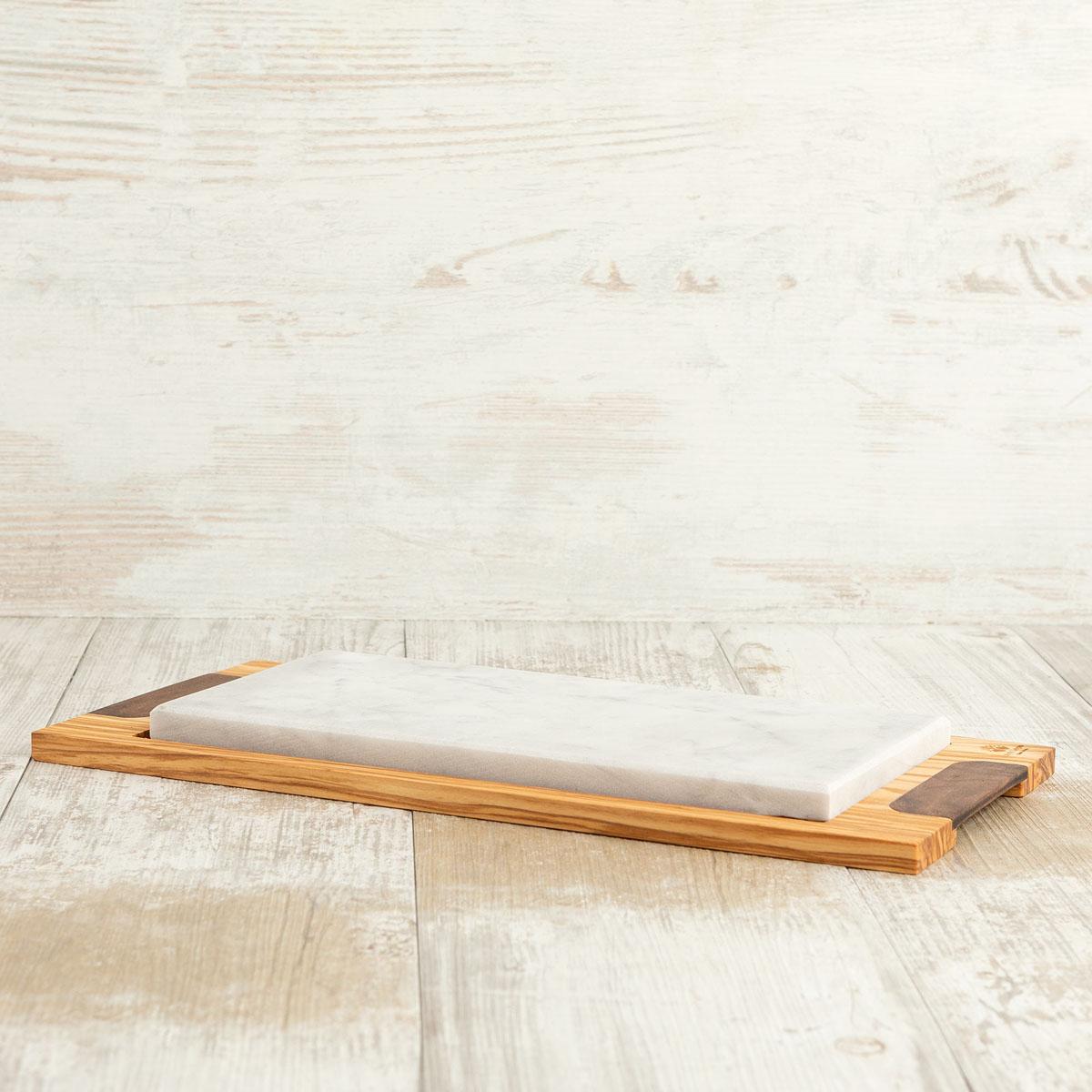 Tagliere in legno con pietra rettangolare | Arte Legno
