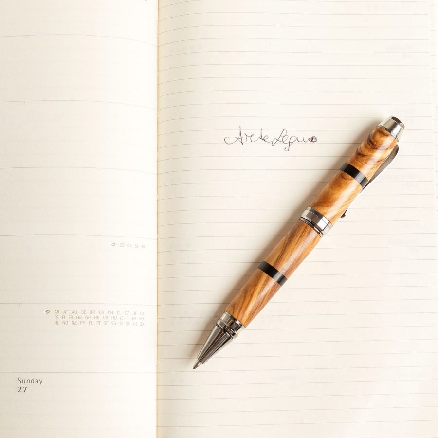 Penna in legno di Ulivo - Artelegno