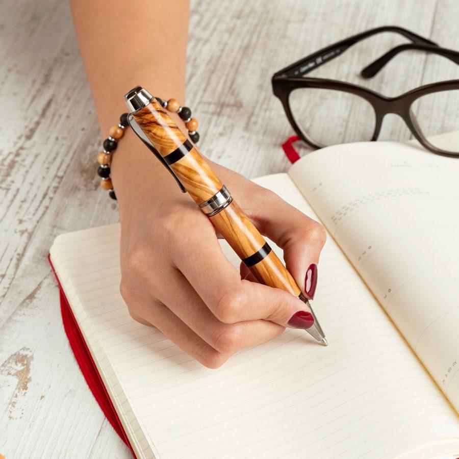 Penna in legno di Ulivo - Artelegnoo