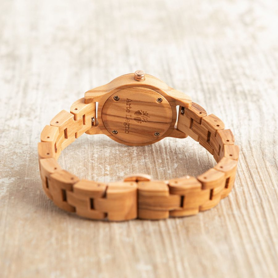 tk5 Orologio da polso in legno di ulivo