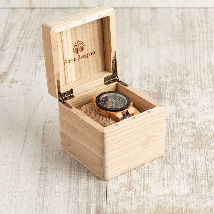 tk100 Orologio da polso in legno di ulivo