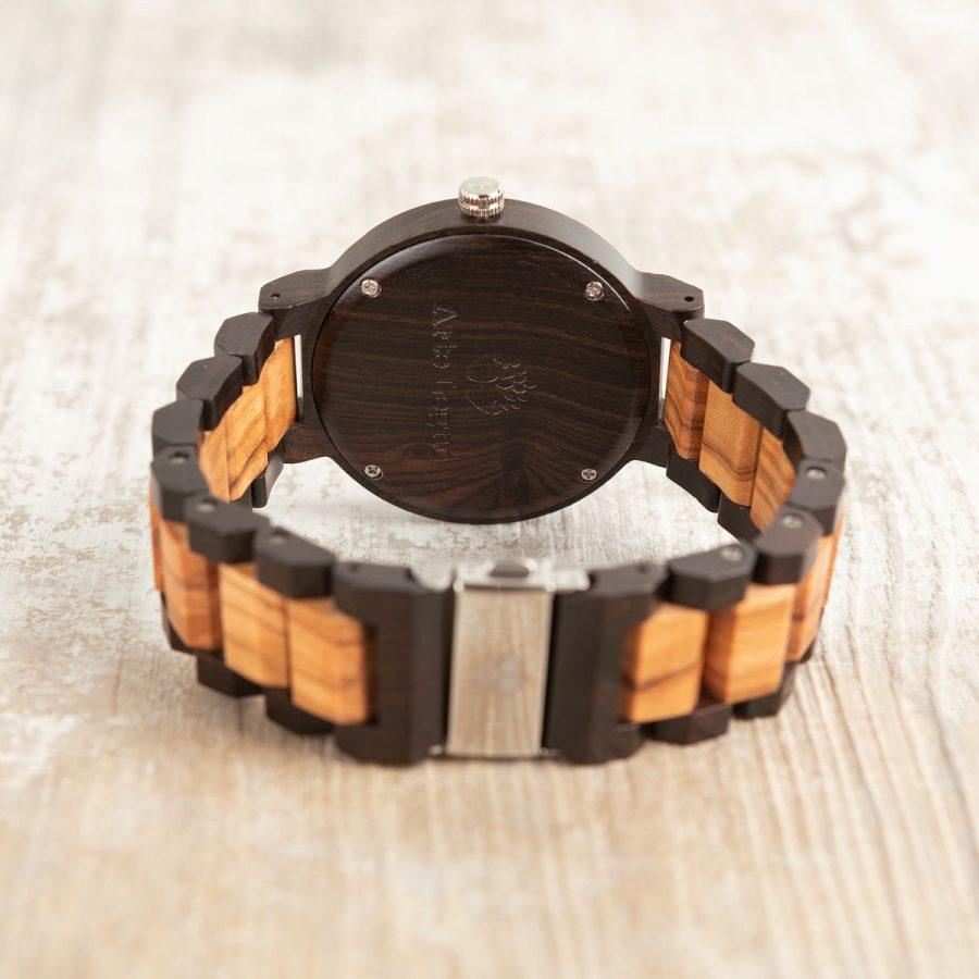 tk37 Orologio da polso in legno di ulivo