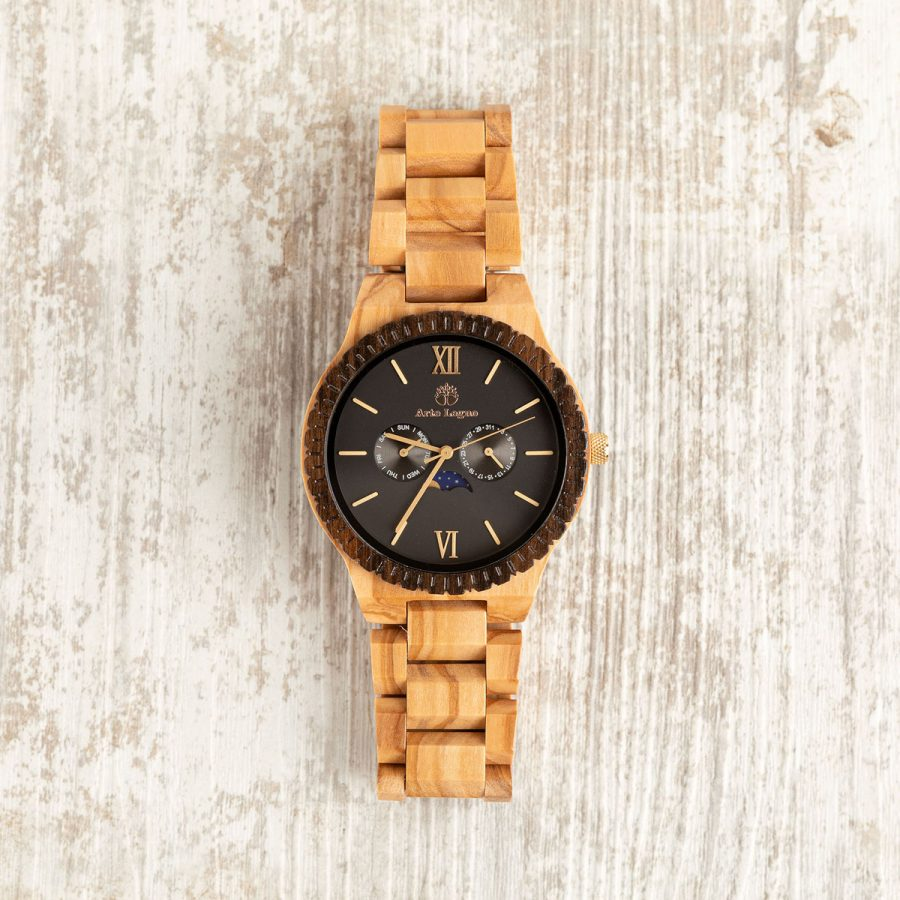 Orologio in legno di ulivo - artelegno