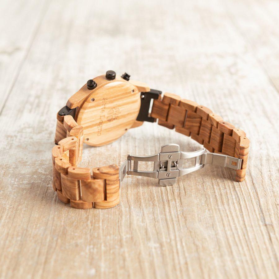 TK47 Orologio in legno di ulivo