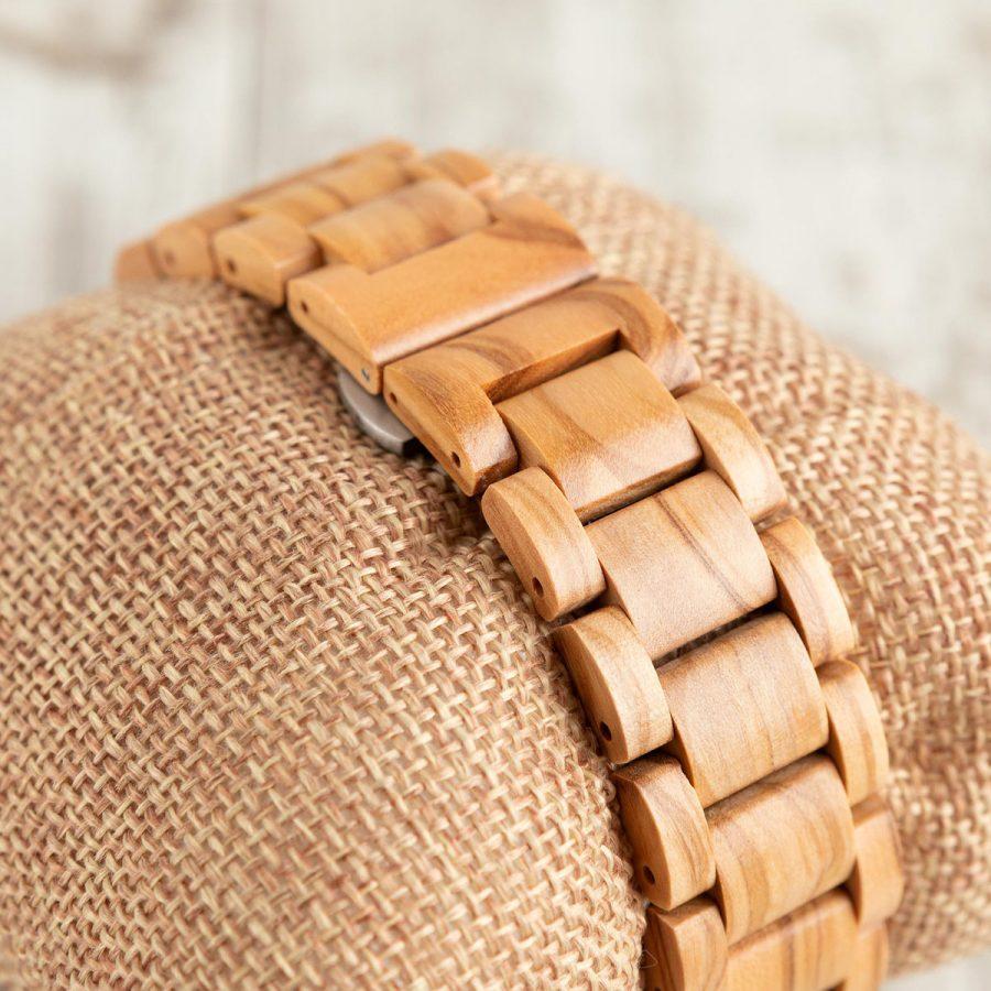 tk48 Orologio da polso in legno di ulivo