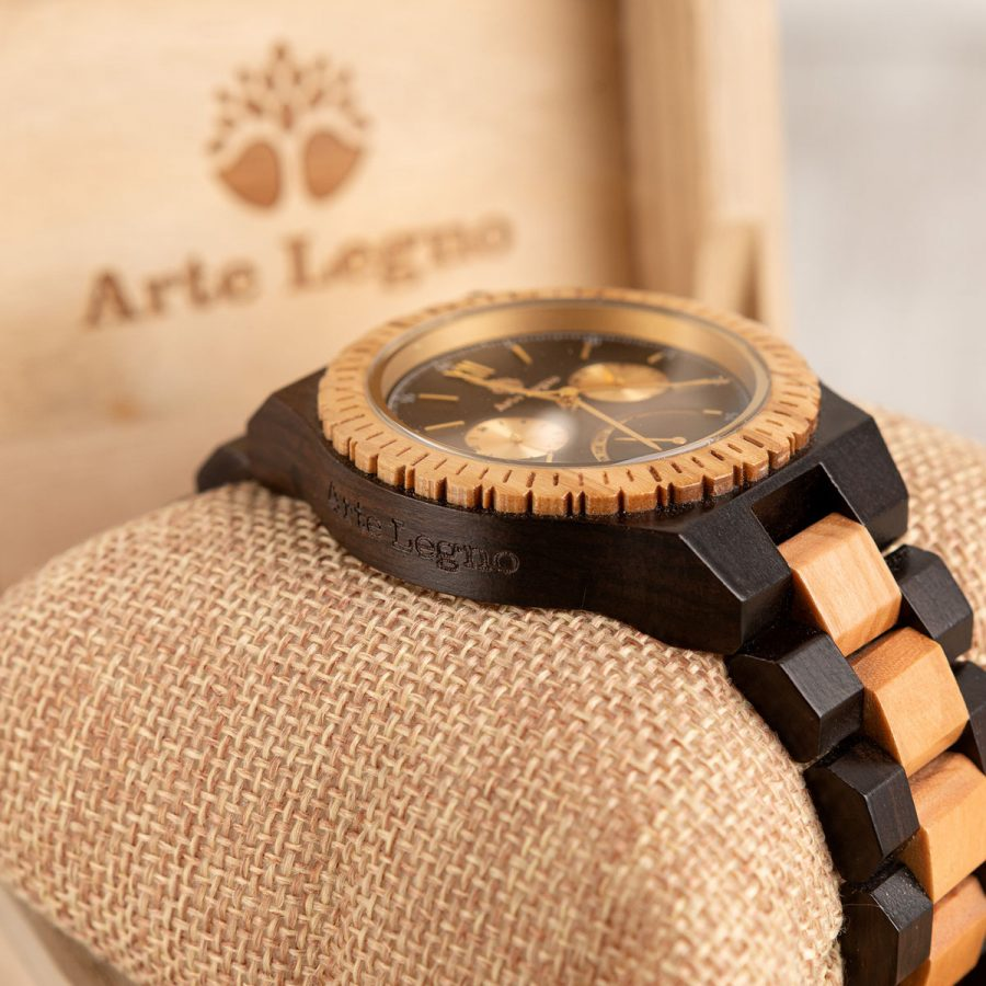 tk80 Orologio da polso in legno di ulivo