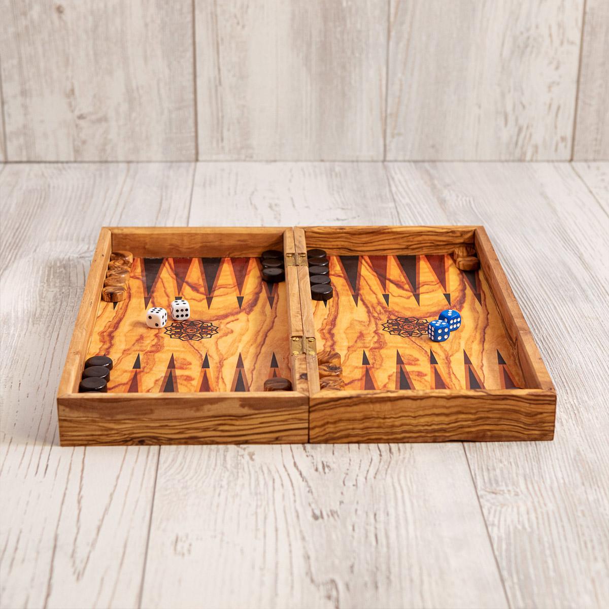 Gioco backgammon, dama e scacchi - Artelegno