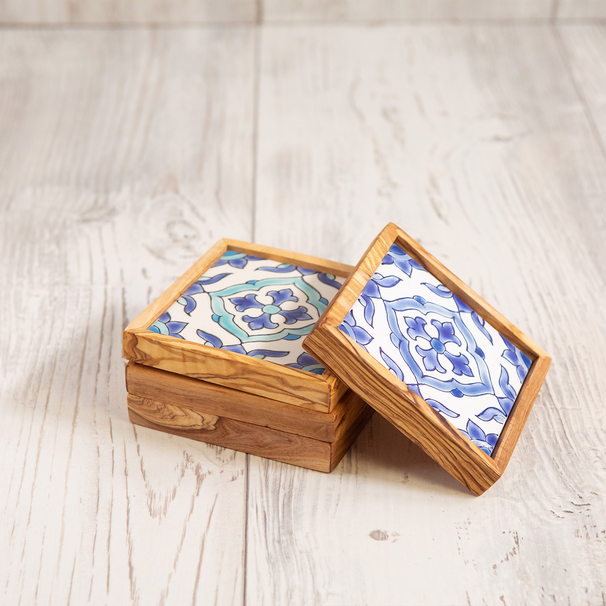 Set di 4 sottobicchieri ceramica - Artelegno